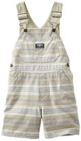Osh Kosh Toddler Boy Khaki Stripe Shortalls