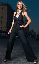 Black Halterneck All in One Jumpsuit