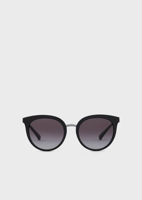 Emporio Armani Woman Oversize Cat-Eye Sunglasses