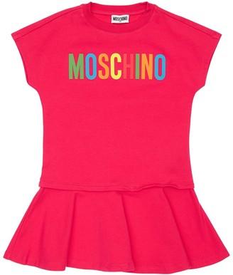 Moschino Rubberized Logo Cotton Sweat Dress