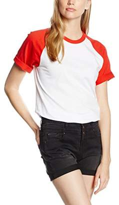 Fruit of the Loom Women's Short Sleeve Baseball T Small