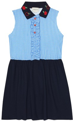 Gucci Kids Gingham stretch-cotton polo dress