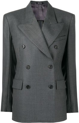 Maison Margiela Checked Double-Breasted Blazer