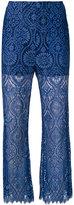 MSGM lace detail pants - women - Polyamide/Polyester/Viscose - 38