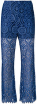 MSGM lace detail pants - women - Polyamide/Polyester/Viscose - 40