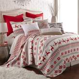 Levtex Home Snowflake Reversible Twin Quilt Set in Red/White
