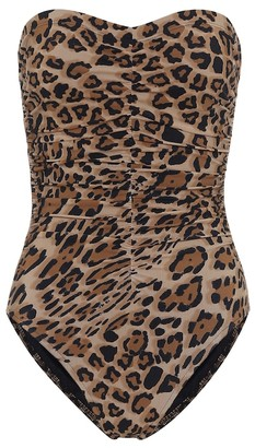 Karla Colletto Exclusive to Mytheresa a Leopard-print bandeau swimsuit