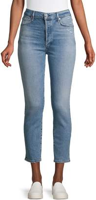 Citizens of Humanity Distressed High-Rise Jeans