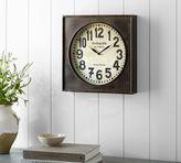 Pottery Barn Bronze Wall Clock