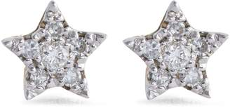 Djula Yellow Gold and Diamond Magic Touch Star Earrings
