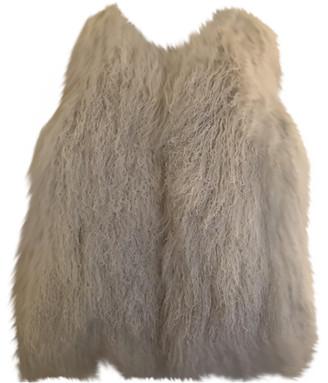 Yves Salomon White Rabbit Jackets & Coats