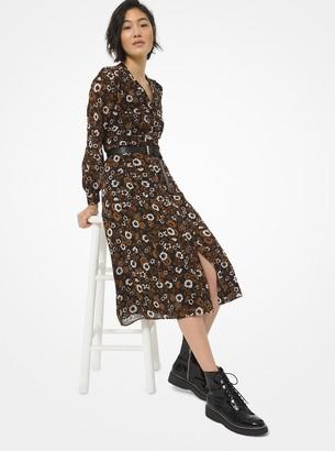 MICHAEL Michael Kors Floral Georgette Shirtdress