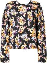 MSGM floral print sweatshirt