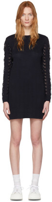 See by Chloe Navy Lace Sweater Dress