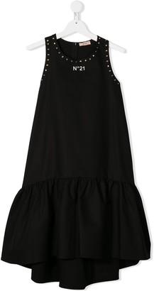 No21 Kids Peplum Hem Dress