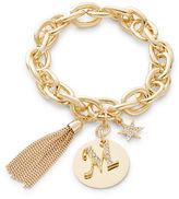 RJ Graziano M Initial Chain-Link Charm Bracelet