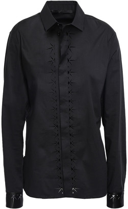 Haider Ackermann Laser-cut Stretch-poplin Shirt