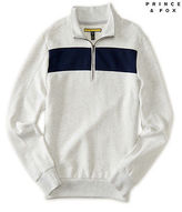 Aeropostale Mens Prince & Fox Chest Stripe Half Zip Sweatshirt