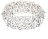 Yours Clothing Silver Filigree Diamante Stretch Bracelet