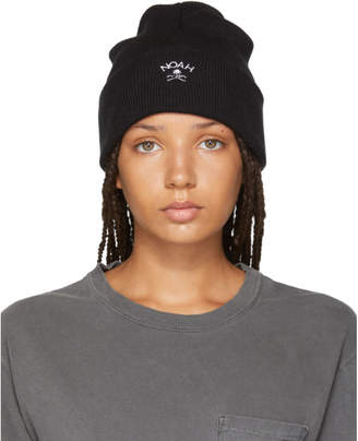 Noah NYC Black Jolly Roger Work Beanie