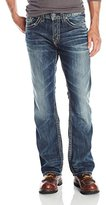 Silver Jeans Men's Zac Medium-Wash Jean with Distressed Flap Pocket