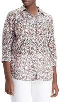 Lauren Ralph Lauren Plus Floral Button-Down Shirt