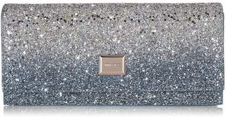 Jimmy Choo LILIA Silver and Dusk Blue Fireball Glitter Fabric Mini Bag
