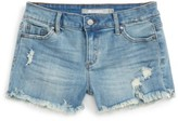 Tractr Girl's Distressed Cutoff Denim Shorts