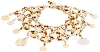 Rosantica Gitana Beaded Ankle Bracelet - Silver Gold