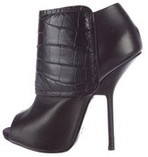 Giuseppe Zanotti Peep-Toe Leather Booties