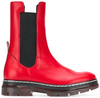 Cédric Charlier Ridged Sole Boots