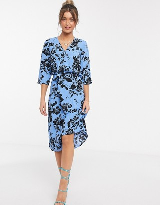 JDY wrap dress in floral print