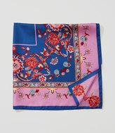 LOFT Enchanted Square Silk Scarf