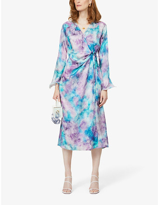 ART DEALER Deborah tie-dye silk midi dress