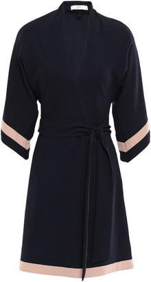 Joie Color-block Satin-crepe Dress