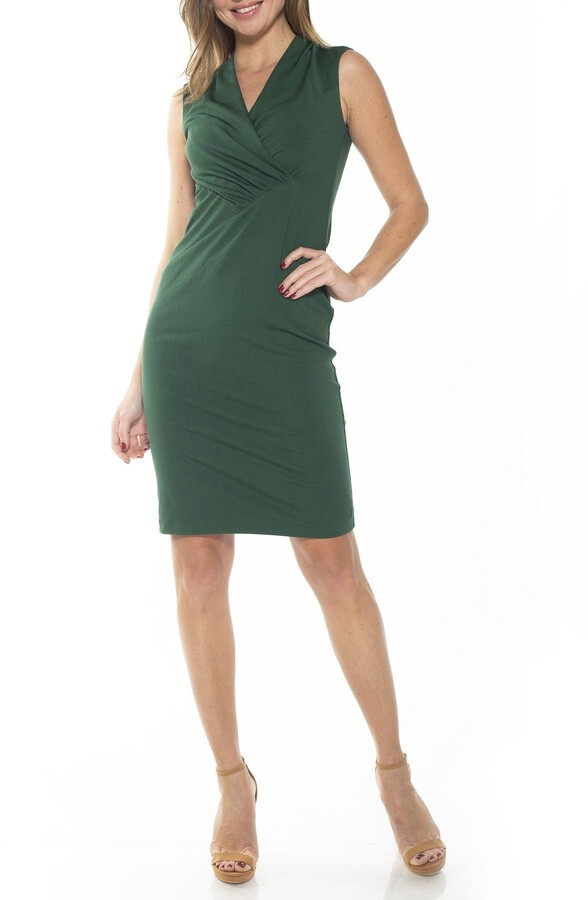 Alexia Admor Cora Ruched Asymmetrical Sheath Dress
