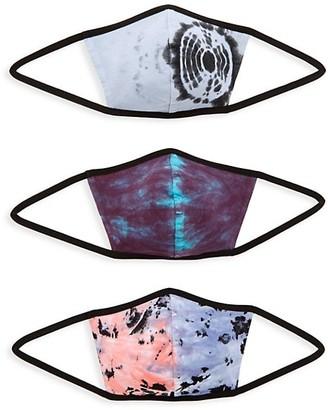 John Elliott 3-Pack Tie-Dye Face Mask Set