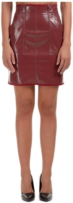 Philosophy di Lorenzo Serafini Faux-Leather Mini Skirt