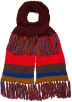 Etro Contrasting wool scarf