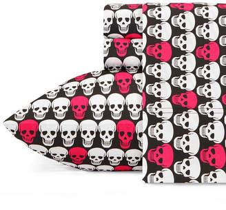Betsey Johnson Skulls Sheet Set, Twin Xl Bedding