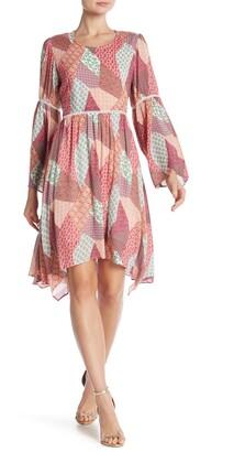 Nanette Nanette Lepore Flare Sleeve Bohemian Dress