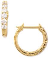 Jude Frances 18k Yellow Gold Pave Diamond Hoop Earrings