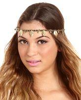 Charm & Chain Leaf Charm Chain Link Headwrap