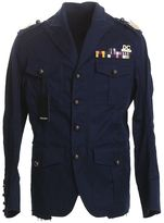 DSQUARED2 Blue Stretch Cotton Freccia D'oro Jacket
