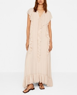 MANGO Women's Ruffles Flowy Dress