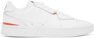 Nike White and Orange NikeCourt Blanc Sneakers