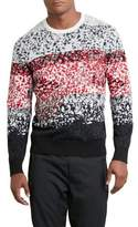 Kenneth Cole New York Reaction Kenneth Cole Pixel Red Camo Sweater - Men's - Black