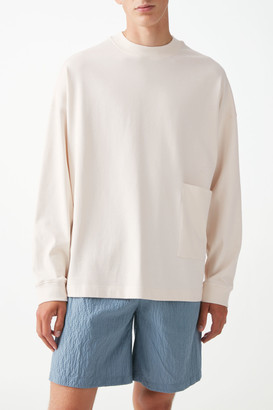 Cos Organic Cotton Boxy Patch Pocket Long Sleeve Top