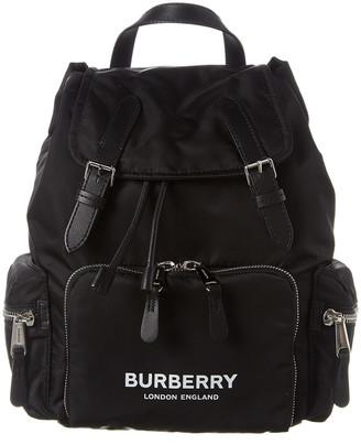 Burberry Medium Logo Print Rucksack
