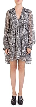The Kooples Leopard Print Babydoll Dress